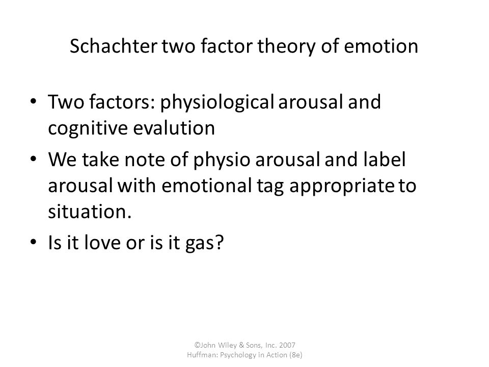Schachter two factor theory of emotion