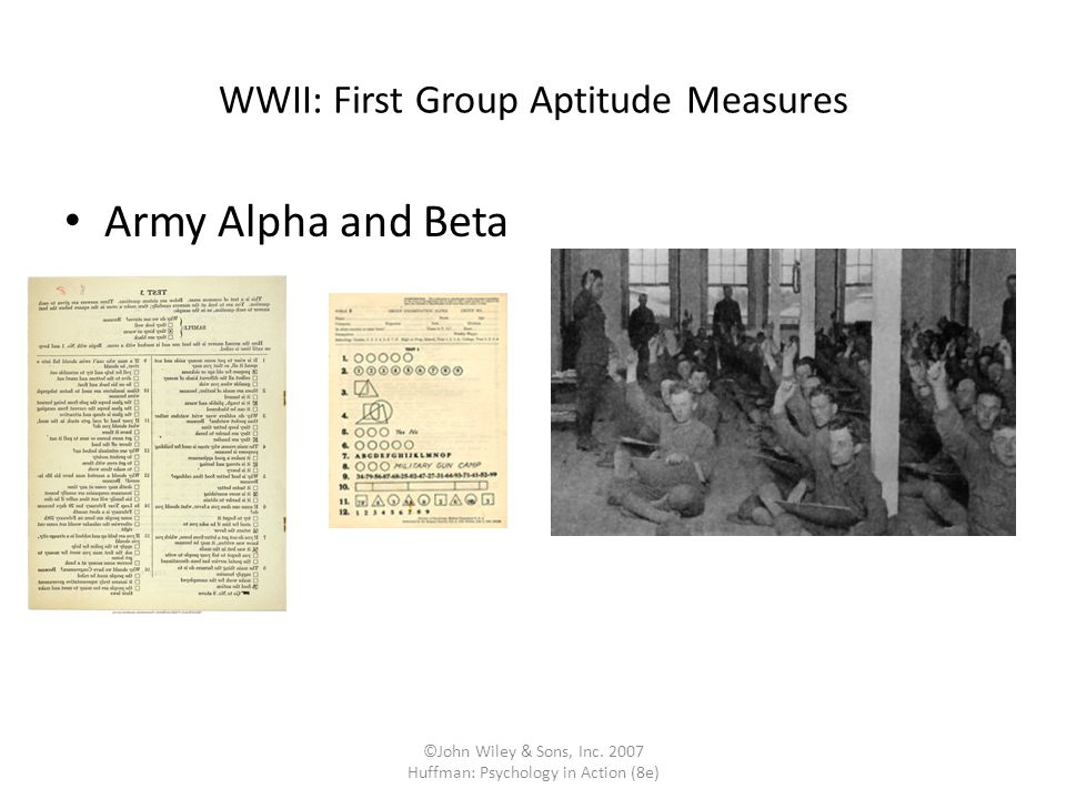 WWII: First Group Aptitude Measures