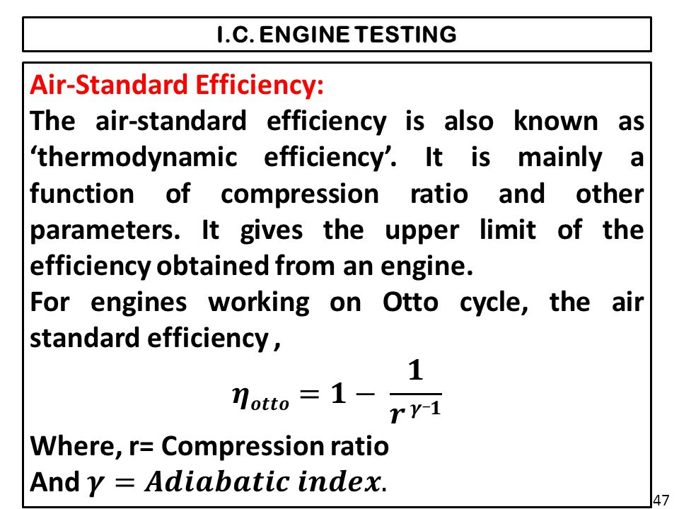 Air-Standard Efficiency: