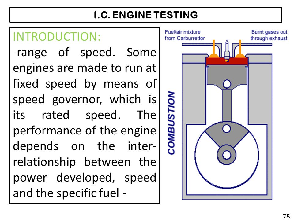 I.C. ENGINE TESTING INTRODUCTION: