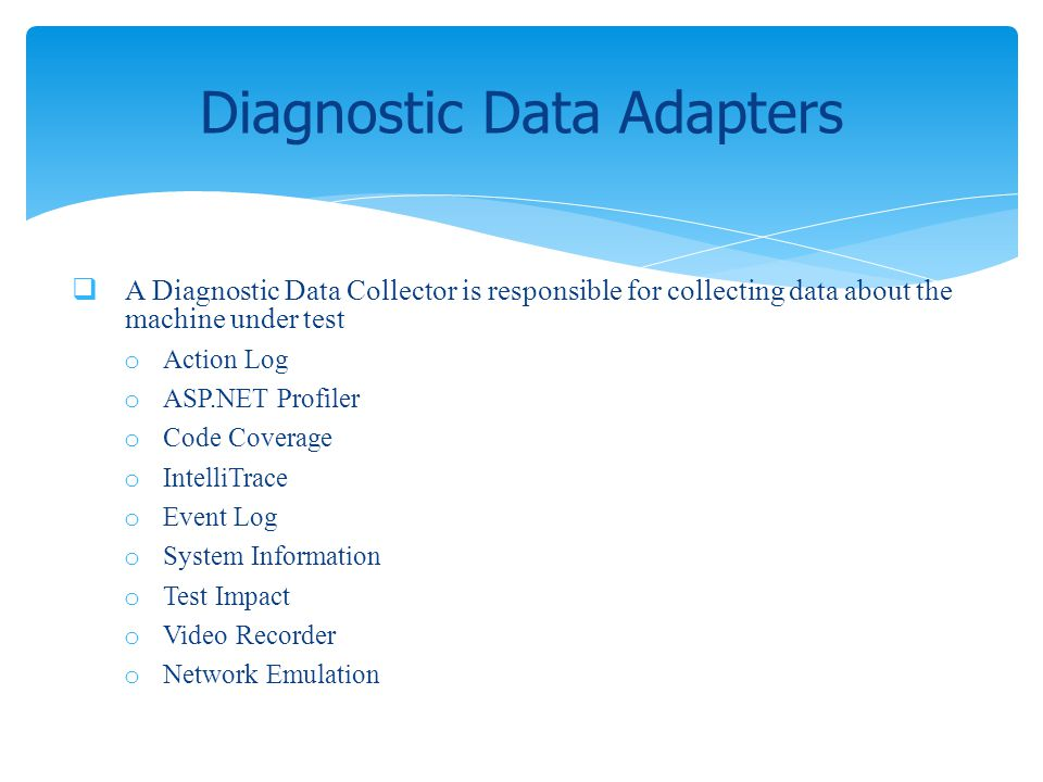 Diagnostic Data Adapters