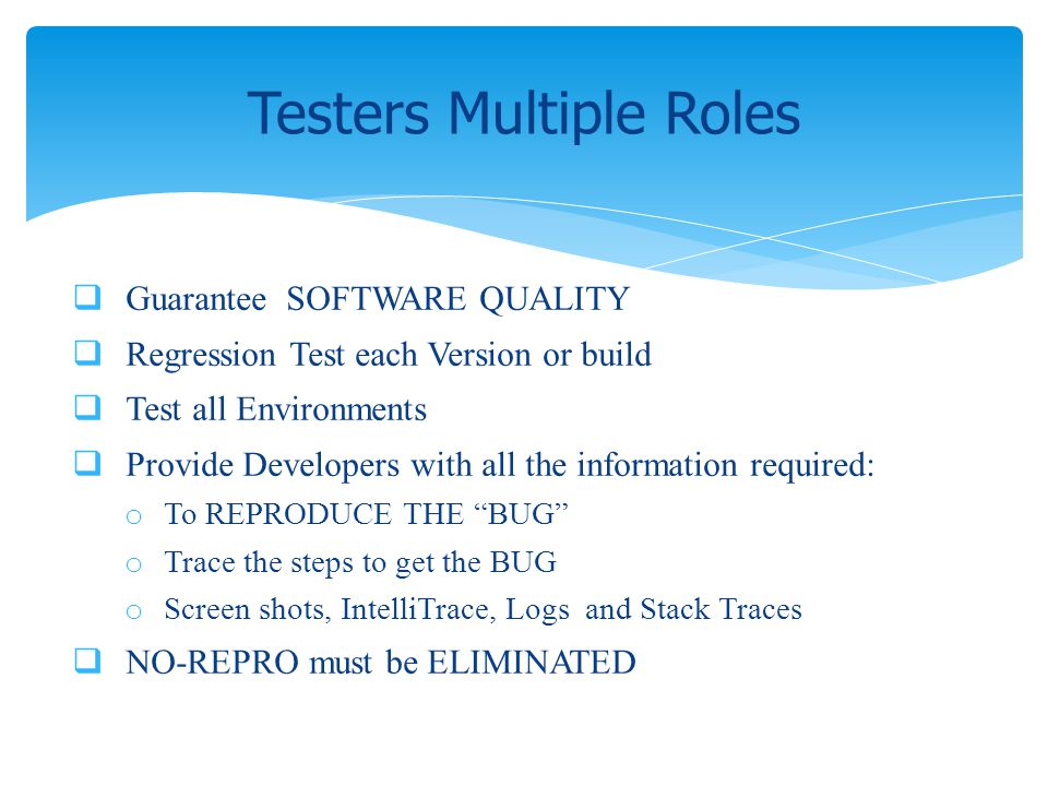 Testers Multiple Roles