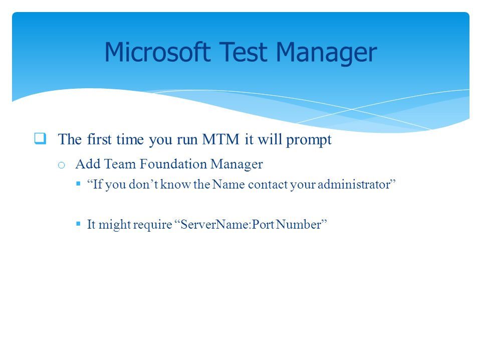 Microsoft Test Manager