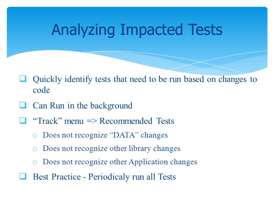 Analyzing Impacted Tests