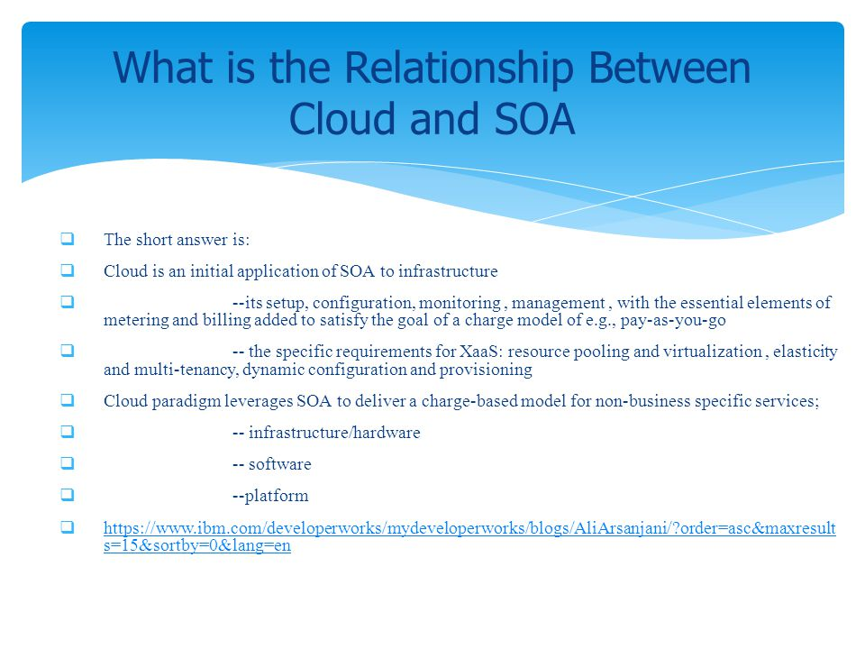 What is the Relationship Between Cloud and SOA