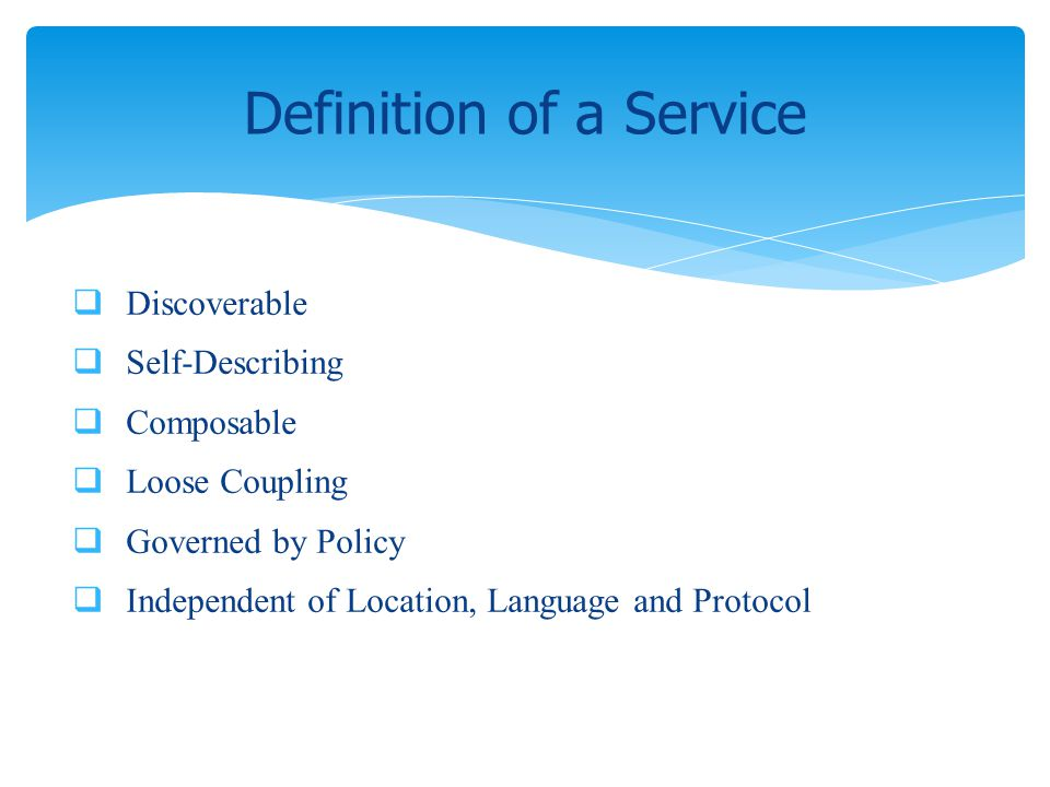 Definition of a Service
