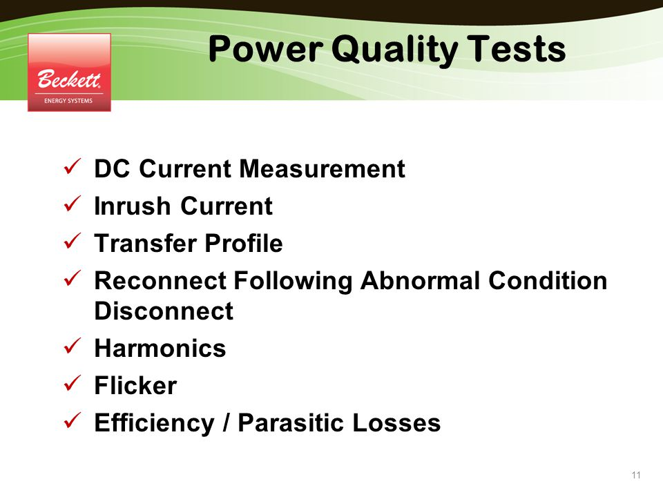 Power Quality Tests DC Current Measurement Inrush Current