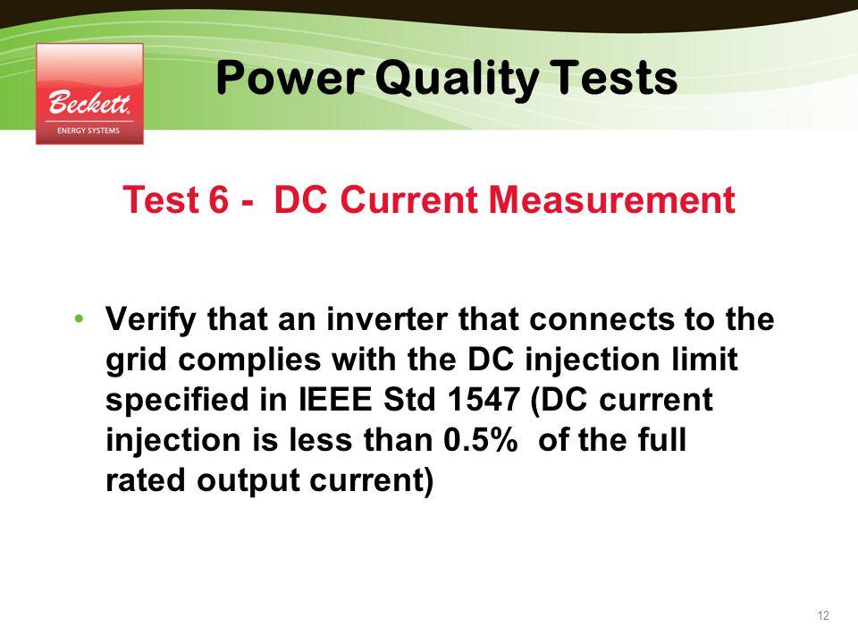 Test 6 - DC Current Measurement