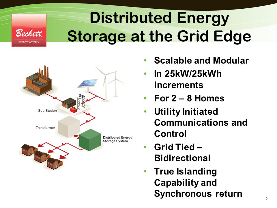 Distributed Energy Storage at the Grid Edge