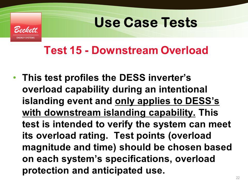 Test 15 - Downstream Overload