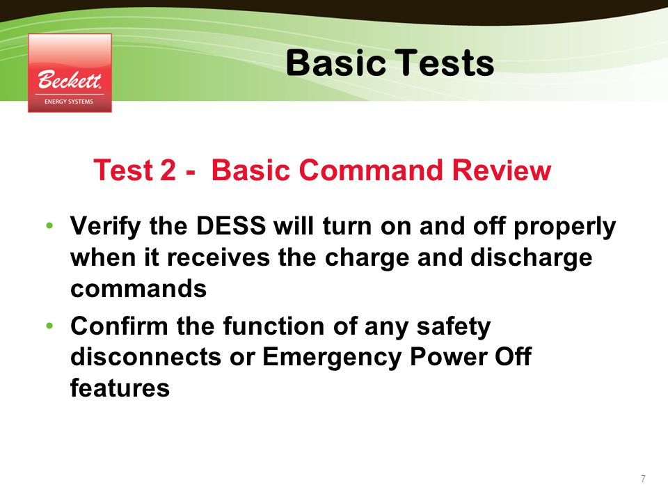 Test 2 - Basic Command Review