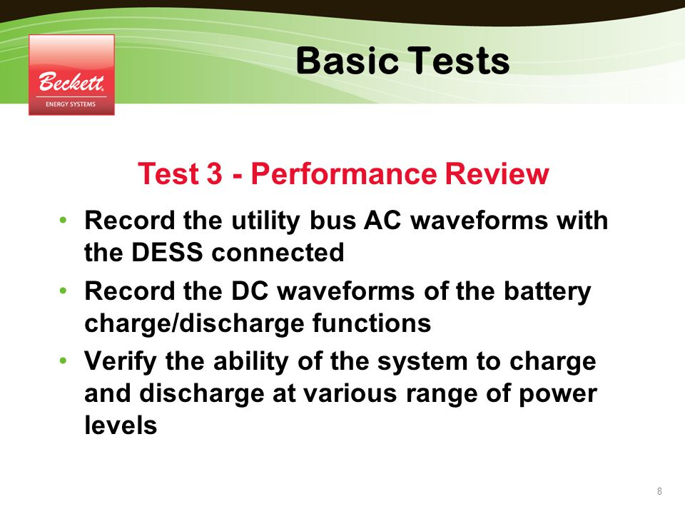 Test 3 - Performance Review
