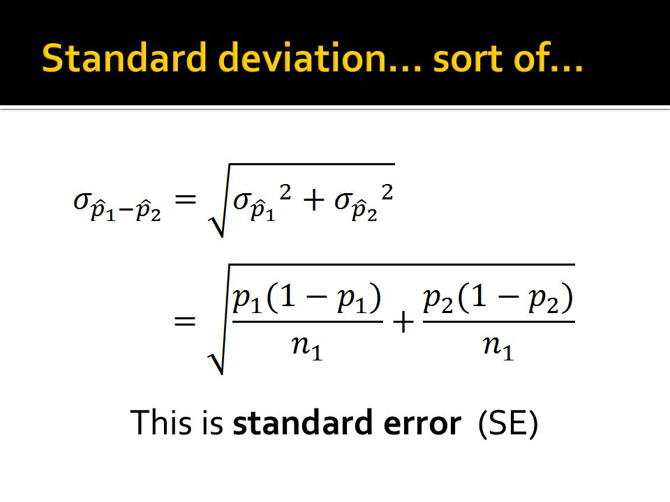 Standard deviation… sort of…
