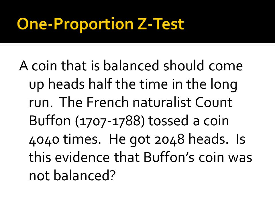 One-Proportion Z-Test
