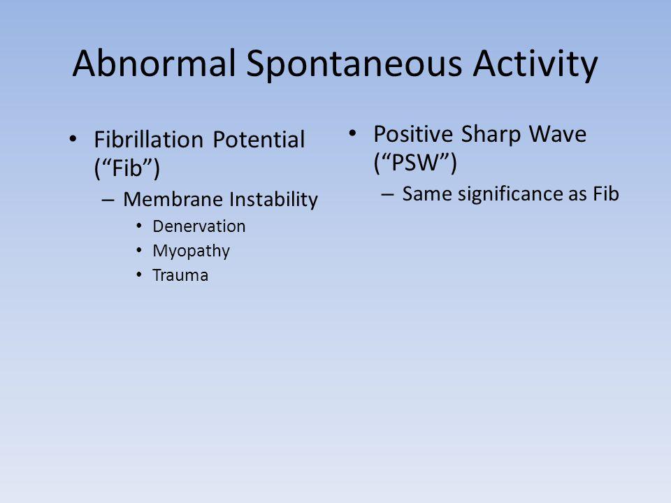 Abnormal Spontaneous Activity