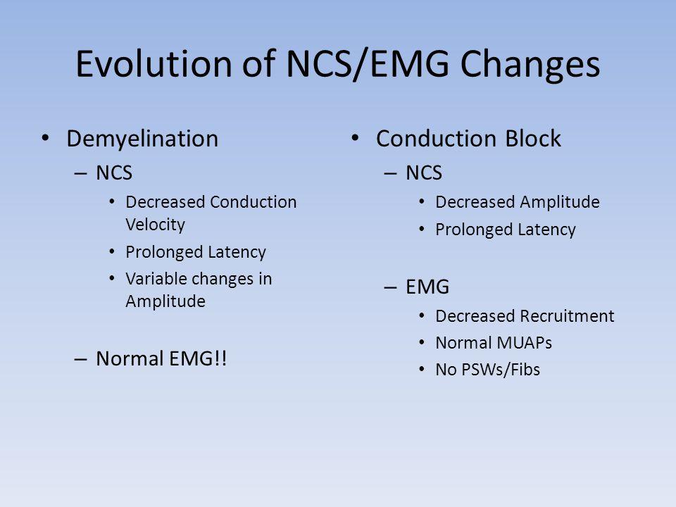 Evolution of NCS/EMG Changes