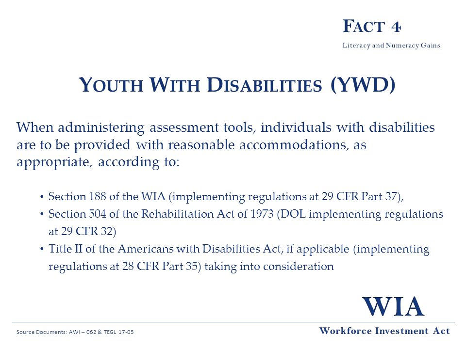 Youth With Disabilities (YWD)