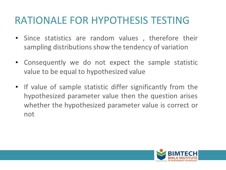 how to write a hypothesis and rationale