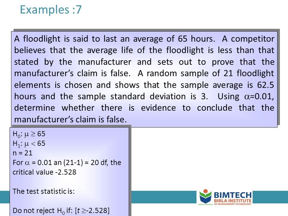 Examples :7