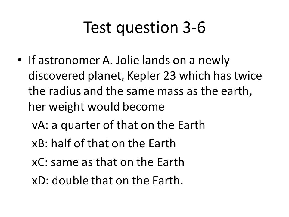Test question 3-6