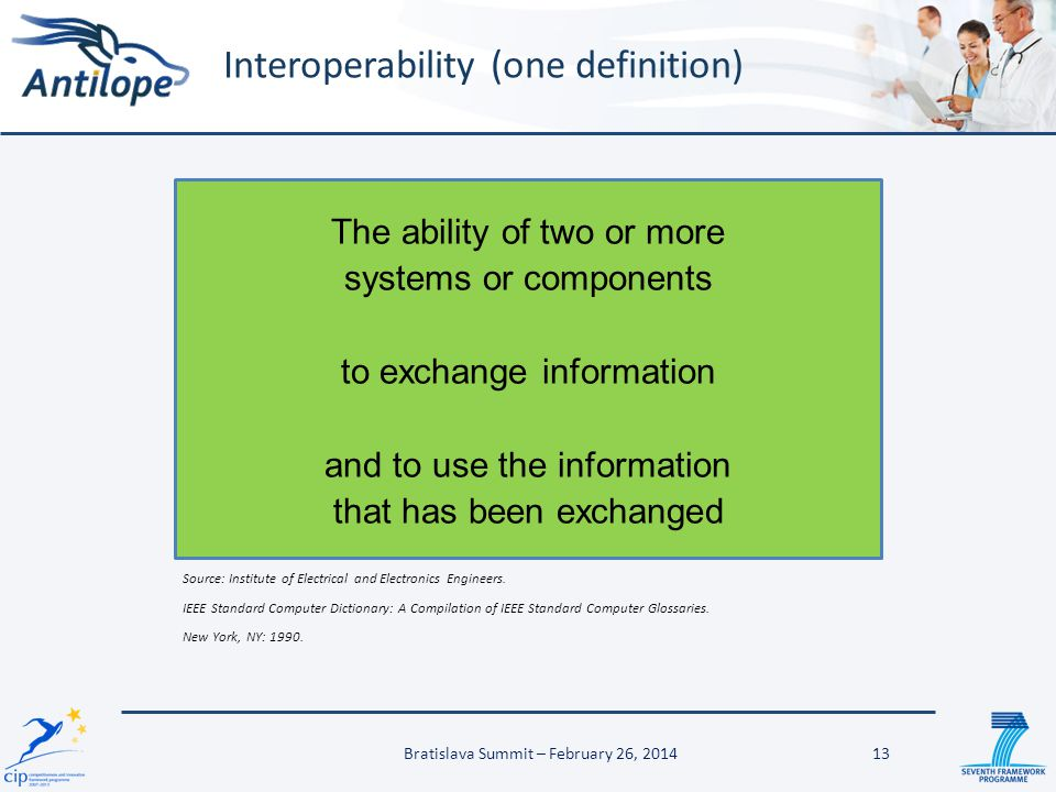 Interoperability (one definition)