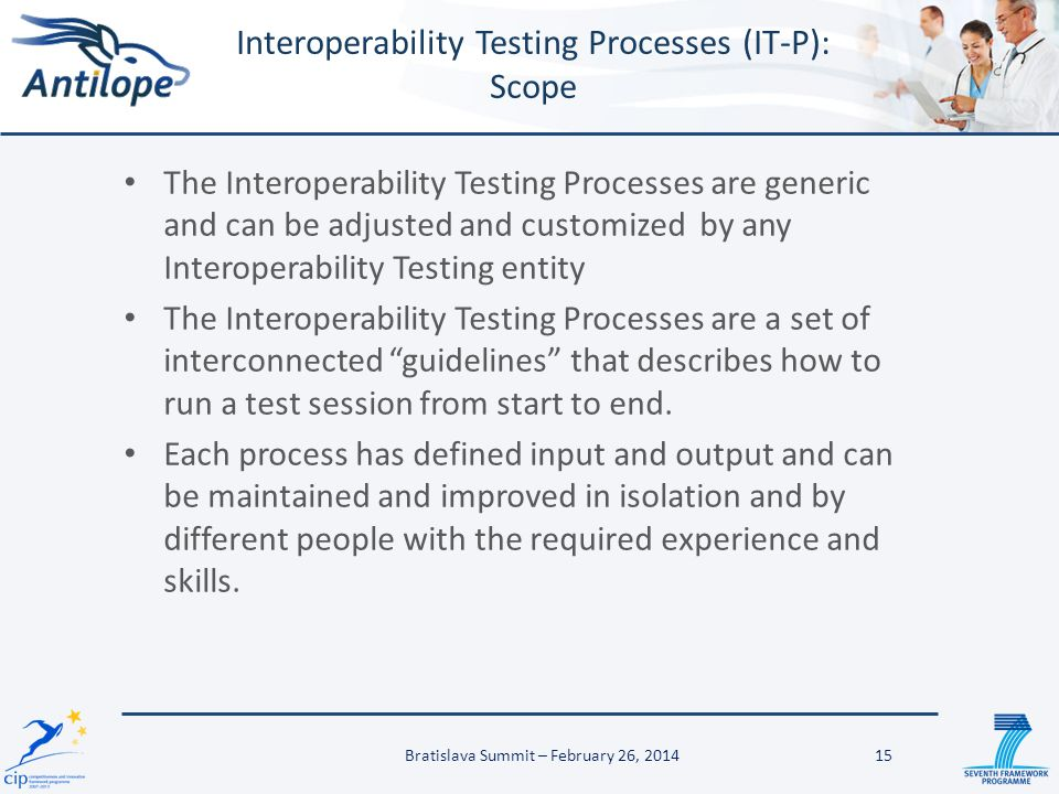 Interoperability Testing Processes (IT-P): Scope