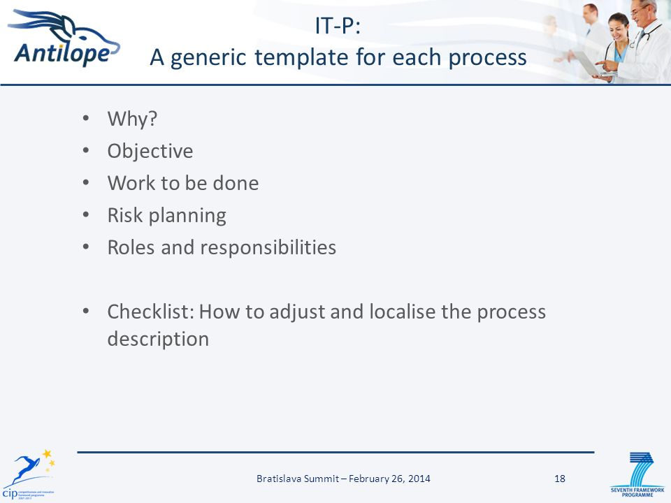 IT-P: A generic template for each process