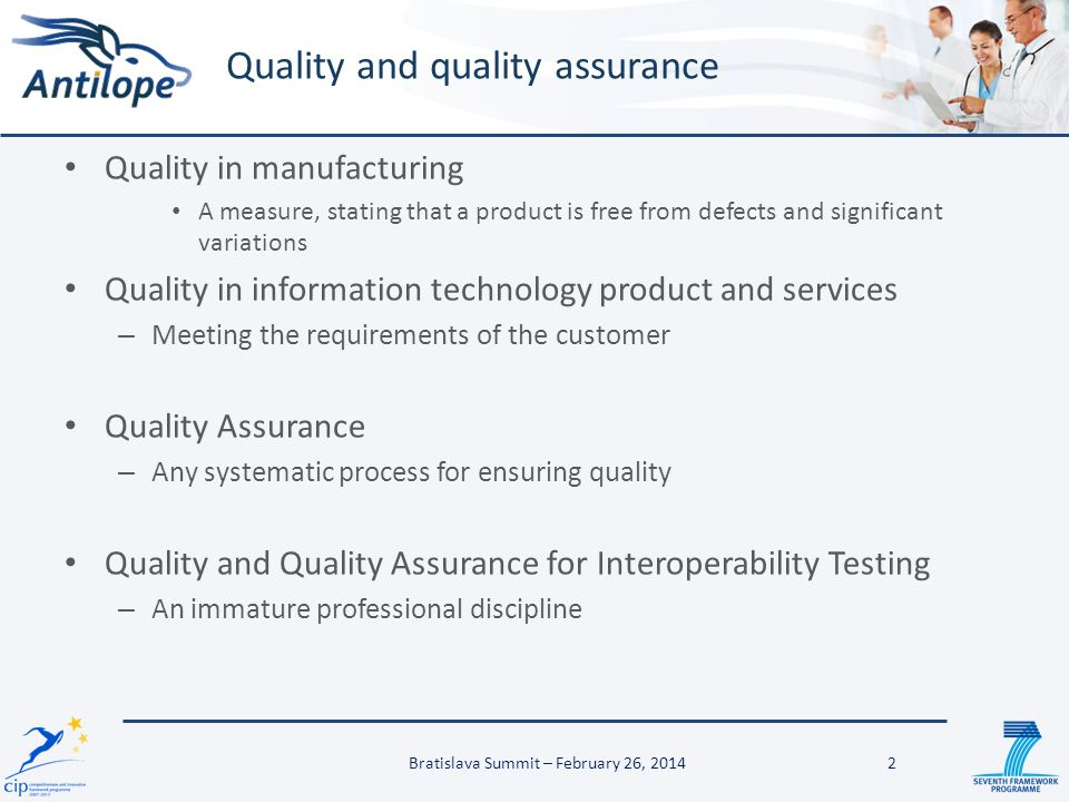 Quality and quality assurance