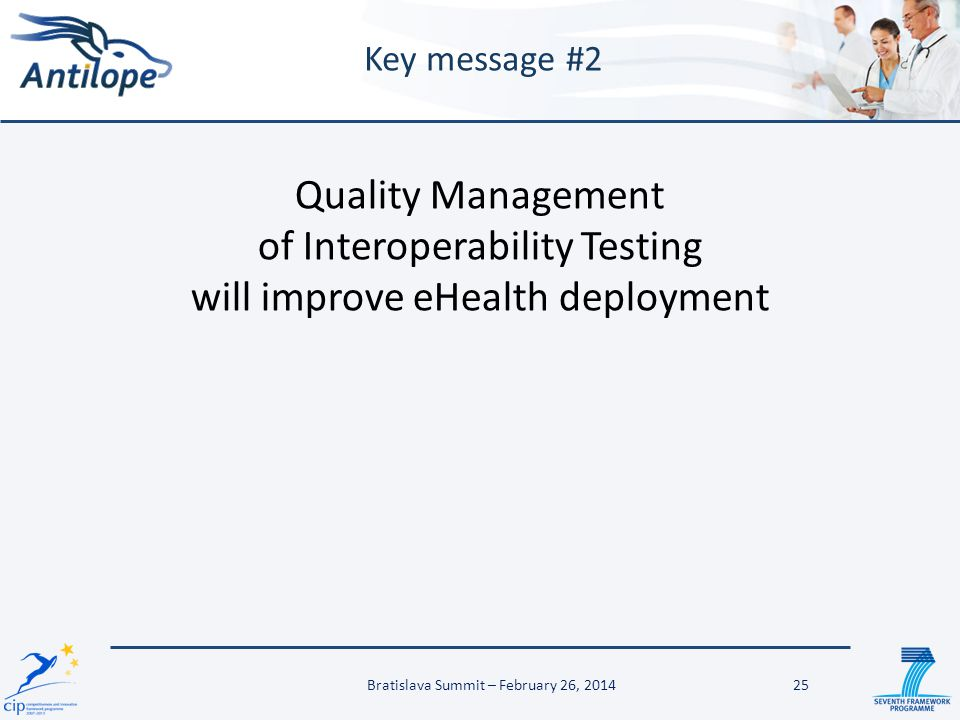 of Interoperability Testing will improve eHealth deployment