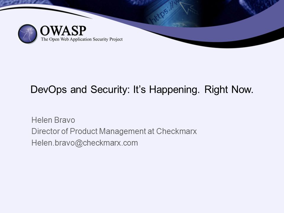 DevOps and Security: It's Happening. Right Now.