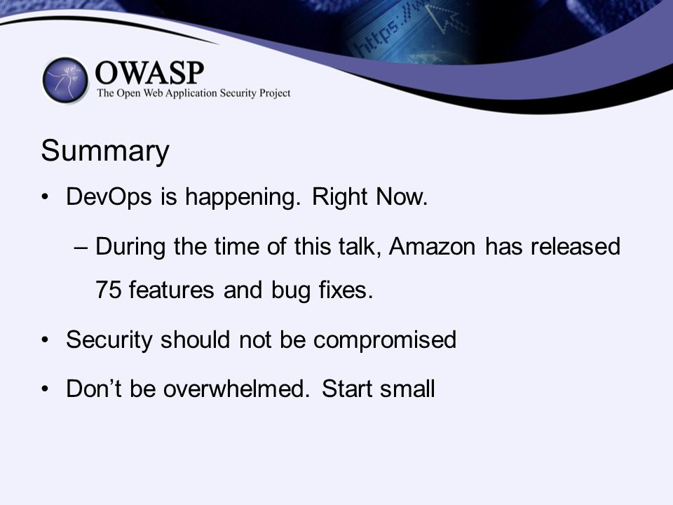 Summary DevOps is happening. Right Now.