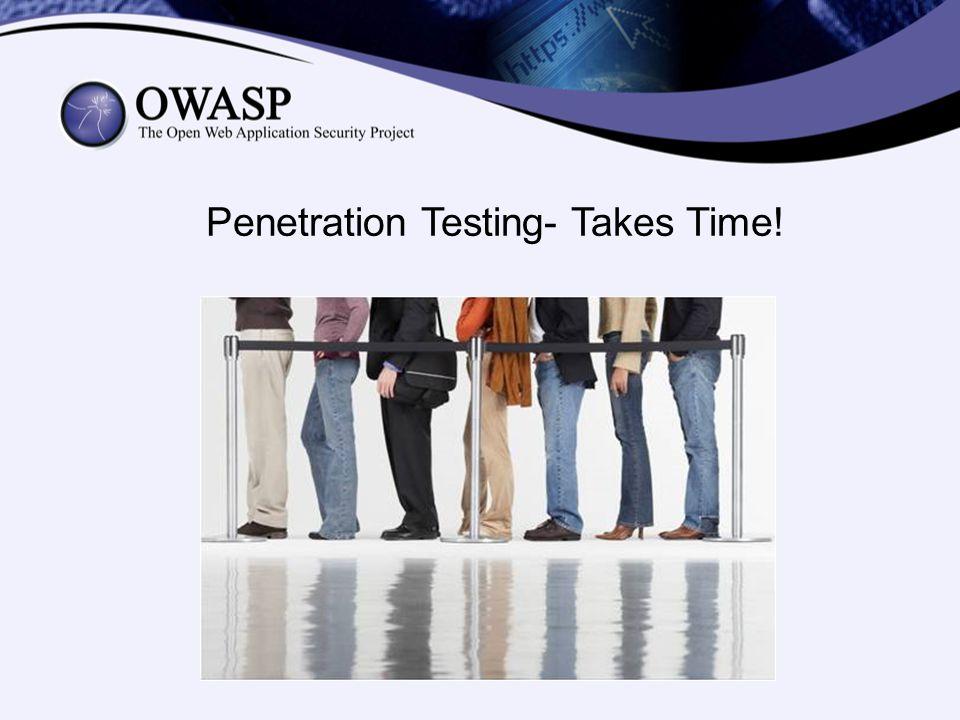 Penetration Testing- Takes Time!