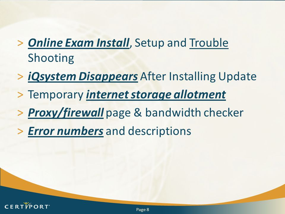 Online Exam Install, Setup and Trouble Shooting