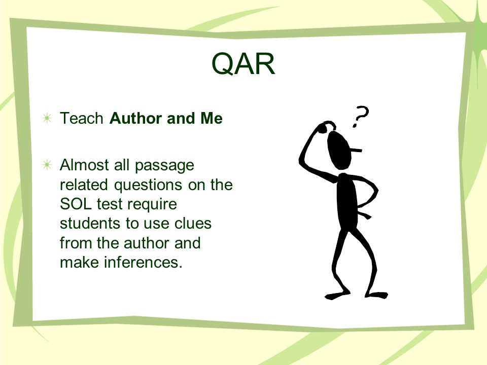 QAR Teach Author and Me.
