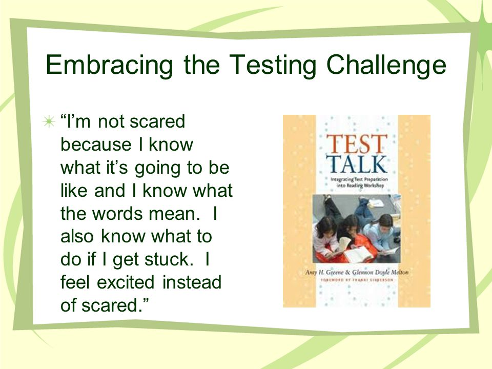 Embracing the Testing Challenge