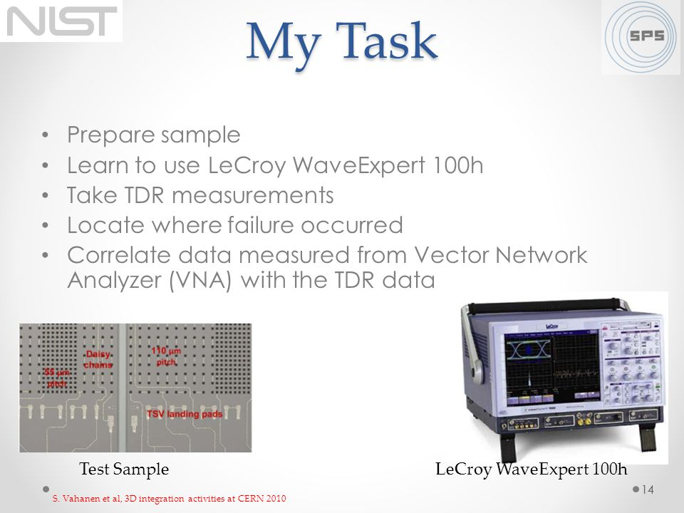 My Task Prepare sample Learn to use LeCroy WaveExpert 100h