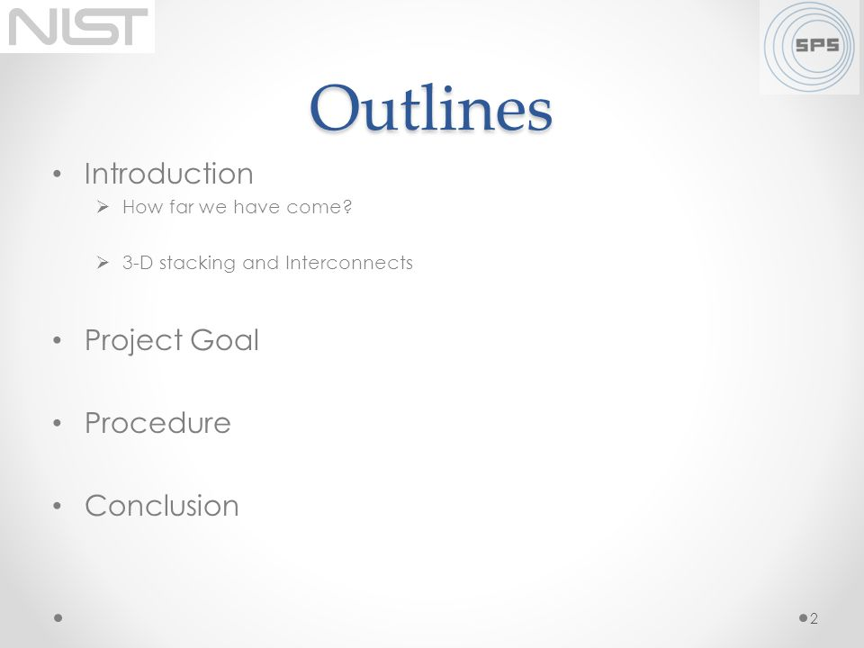 Outlines Introduction Project Goal Procedure Conclusion