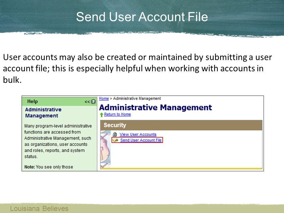 Send User Account File