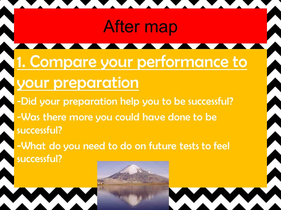 1. Compare your performance to your preparation