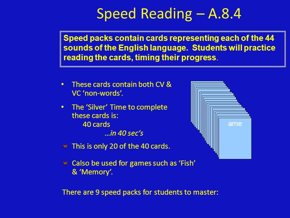 Speed Reading – A.8.4