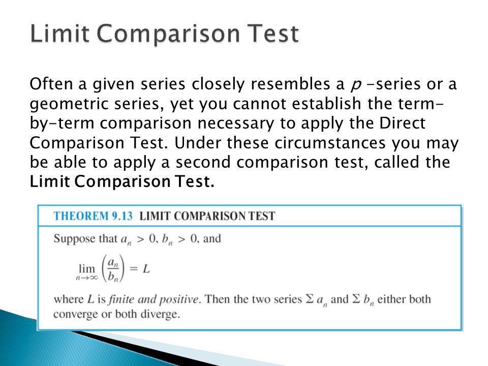Limit Comparison Test