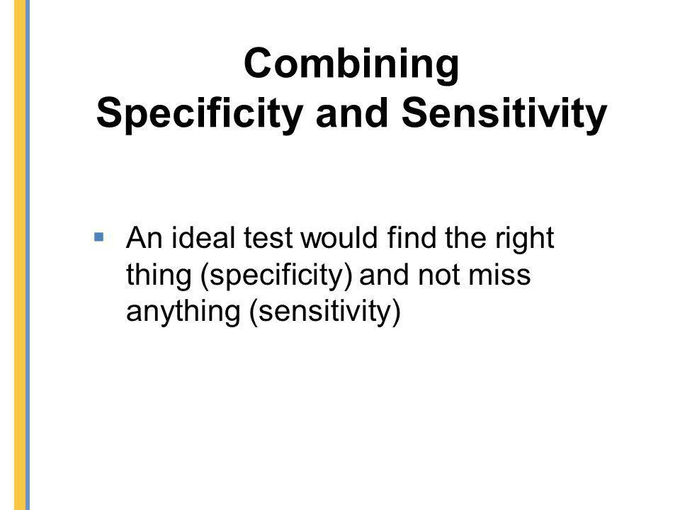 Combining Specificity and Sensitivity