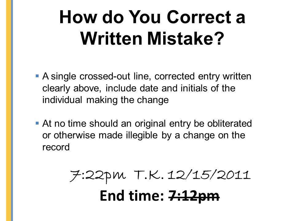 How do You Correct a Written Mistake