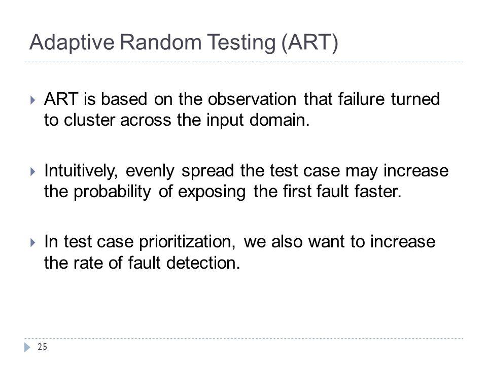 Adaptive Random Testing (ART)