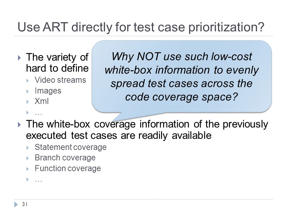 Use ART directly for test case prioritization