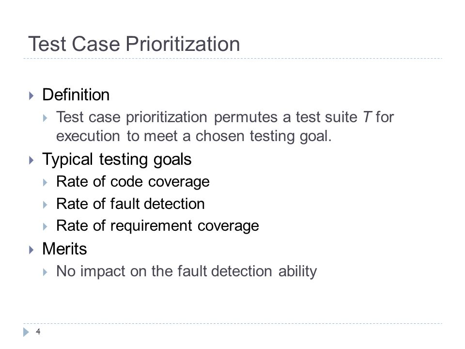 Test Case Prioritization