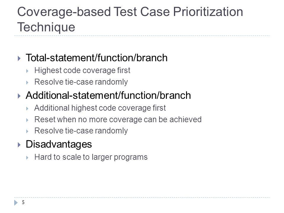 Coverage-based Test Case Prioritization Technique