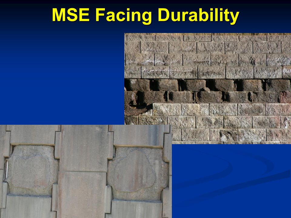 MSE Facing Durability Speaking Points