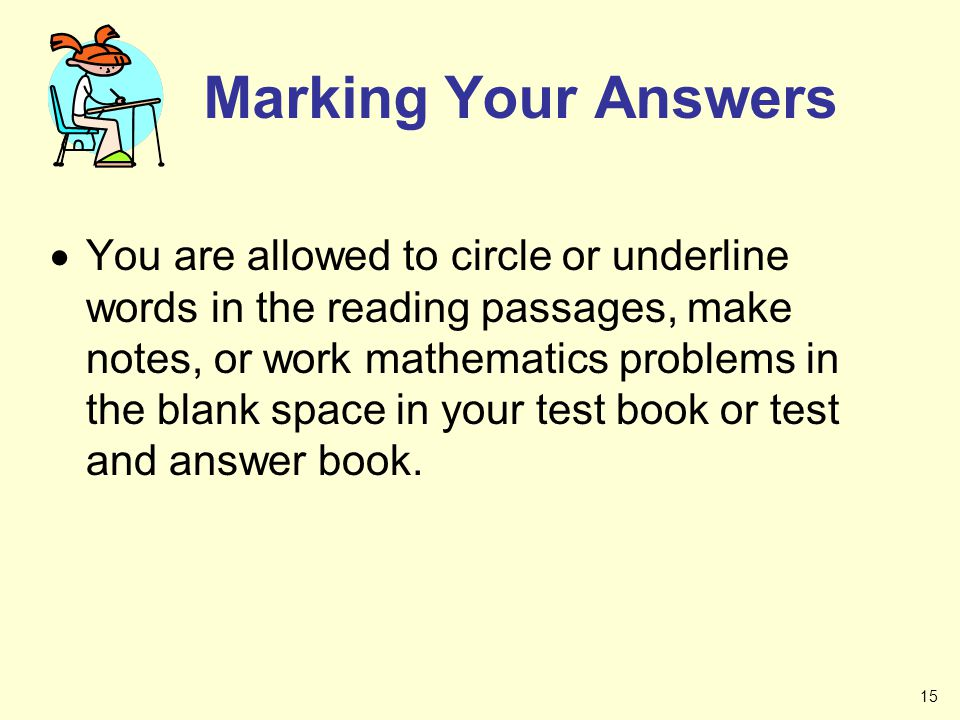 Marking Your Answers