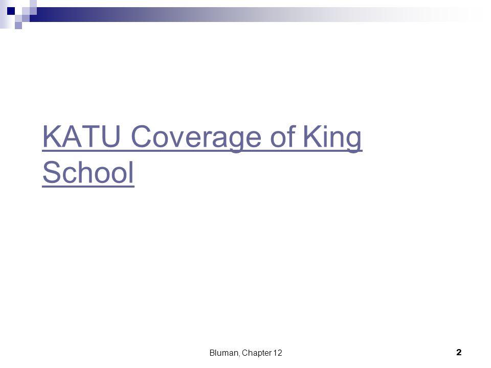 KATU Coverage of King School